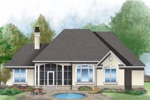 Architectural House Design - Mediterranean Exterior - Rear Elevation Plan #929-291