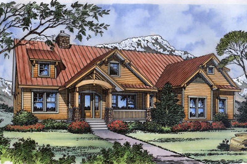 Architectural House Design - Craftsman Exterior - Front Elevation Plan #417-238