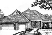 European Style House Plan - 3 Beds 2.5 Baths 2224 Sq/Ft Plan #310-524 Exterior - Front Elevation