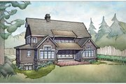 Country Style House Plan - 4 Beds 4 Baths 3785 Sq/Ft Plan #928-322 Exterior - Rear Elevation