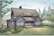 Country Exterior - Rear Elevation Plan #928-322