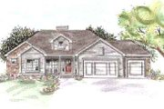 Traditional Style House Plan - 3 Beds 2.5 Baths 1935 Sq/Ft Plan #20-1311 Exterior - Front Elevation