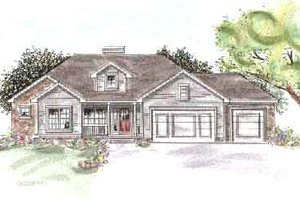 Traditional Exterior - Front Elevation Plan #20-1311