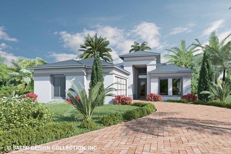 Modern Style House Plan - 3 Beds 3.5 Baths 2415 Sq/Ft Plan #930-524