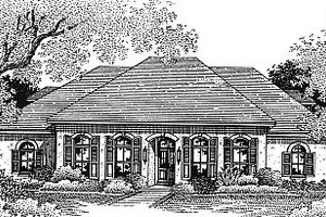 Mediterranean Exterior - Front Elevation Plan #14-104