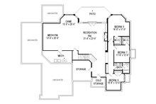 Traditional Floor Plan - Lower Floor Plan Plan #920-44
