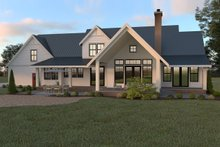 Dream House Plan - Farmhouse Exterior - Rear Elevation Plan #1070-19