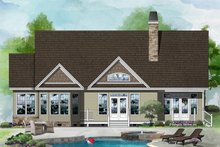 Ranch Exterior - Rear Elevation Plan #929-408