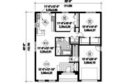 Contemporary Style House Plan - 2 Beds 1 Baths 1197 Sq/Ft Plan #25-4277 Floor Plan - Main Floor Plan