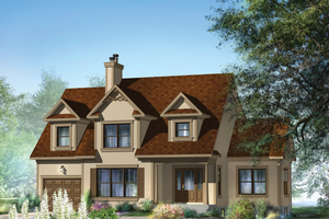Country Exterior - Front Elevation Plan #25-4709