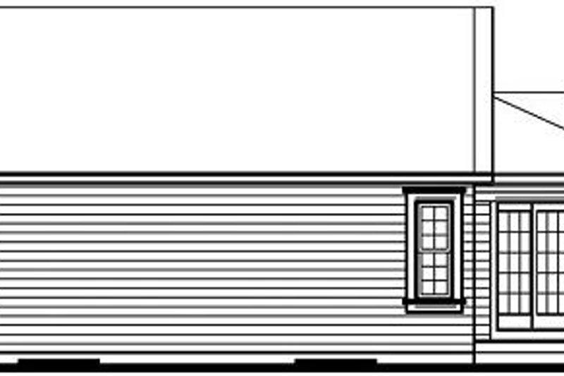 Exterior - Rear Elevation Plan #23-684 - Houseplans.com