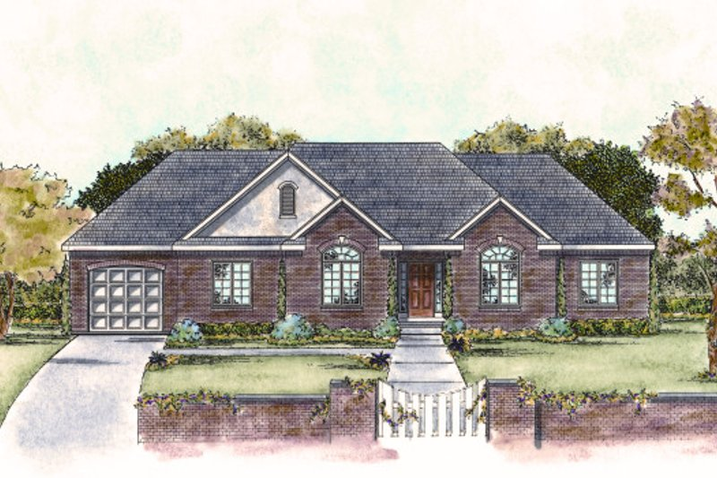 Traditional Exterior - Front Elevation Plan #20-1717