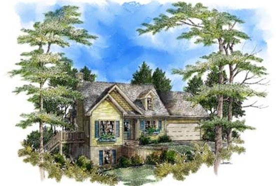 Traditional Exterior - Front Elevation Plan #71-102