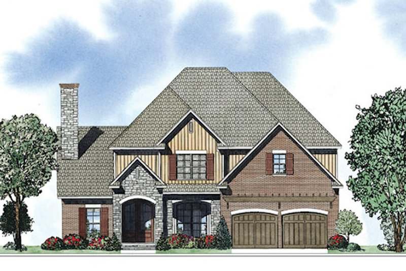 European Exterior - Front Elevation Plan #17-2415