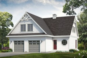 Bungalow Exterior - Front Elevation Plan #47-1090