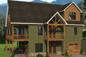 Country Exterior - Front Elevation Plan #932-334