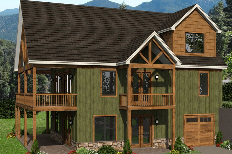 House Plan Design - Country Exterior - Front Elevation Plan #932-334