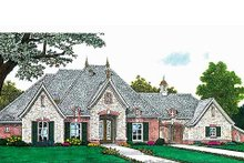 Dream House Plan - European Exterior - Front Elevation Plan #310-687