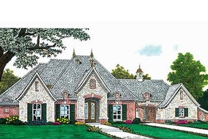 European Exterior - Front Elevation Plan #310-687