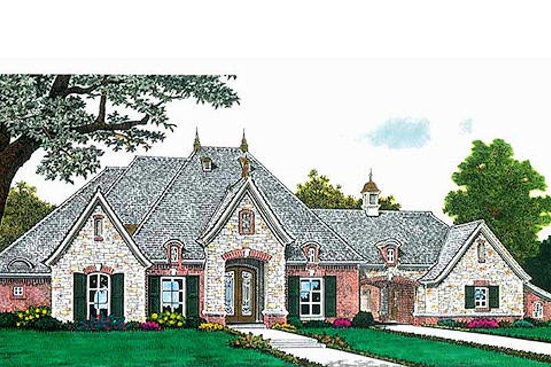 European Exterior - Front Elevation Plan #310-687 - Houseplans.com
