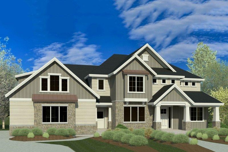 Dream House Plan - Craftsman Exterior - Front Elevation Plan #920-58