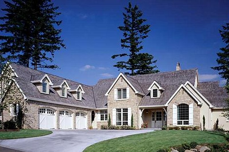 European Exterior - Front Elevation Plan #48-120 - Houseplans.com