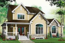 Dream House Plan - Country Exterior - Front Elevation Plan #23-384