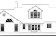Southern Exterior - Rear Elevation Plan #406-197