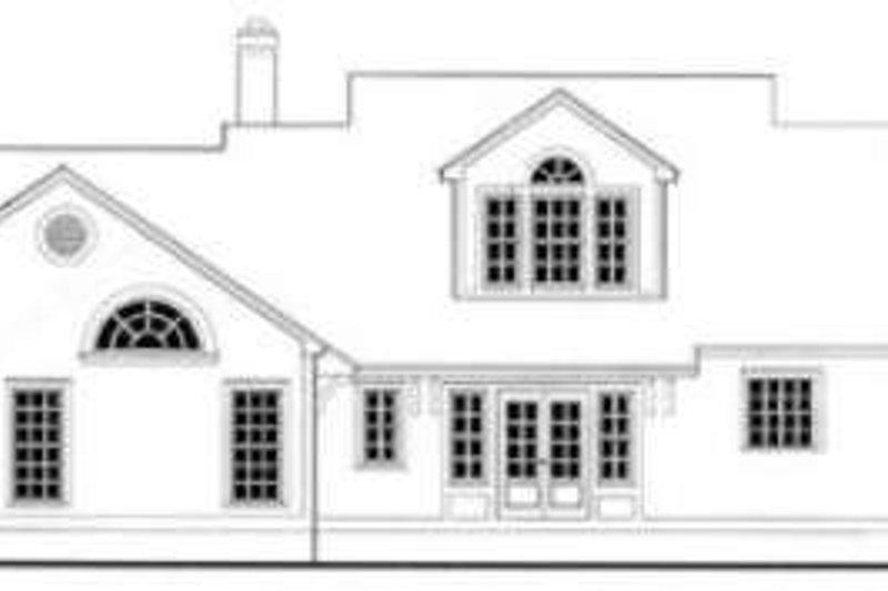 Southern Exterior - Rear Elevation Plan #406-197 - Houseplans.com