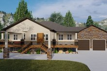 House Plan Design - Ranch Exterior - Front Elevation Plan #1060-21