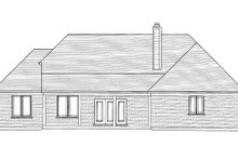 Bungalow Exterior - Rear Elevation Plan #46-433