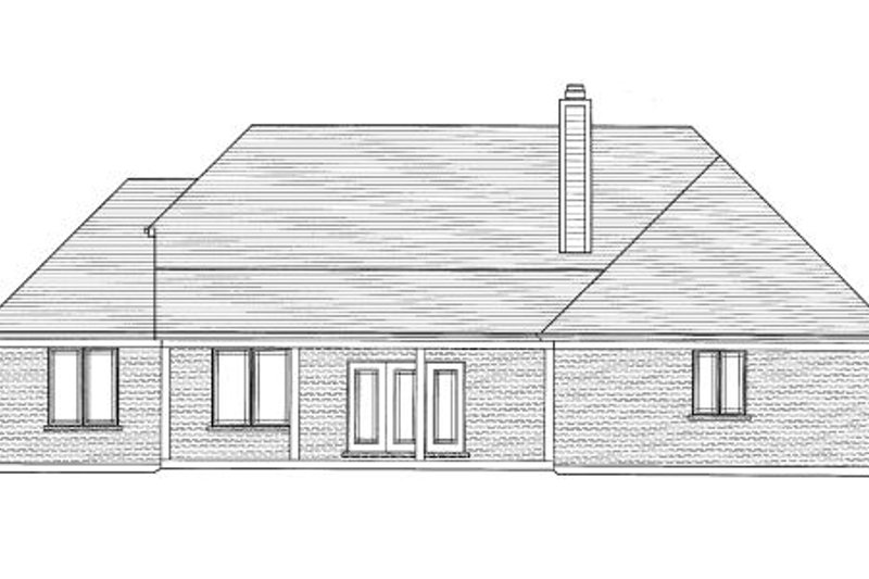 Bungalow Exterior - Rear Elevation Plan #46-433 - Houseplans.com