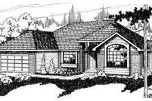 Ranch Exterior - Front Elevation Plan #124-121