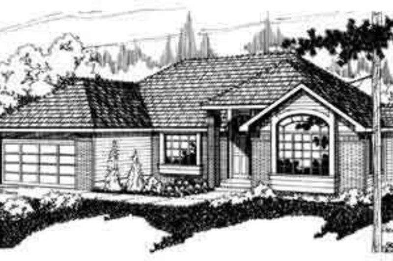 Ranch Exterior - Front Elevation Plan #124-121 - Houseplans.com