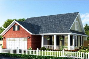 Country Exterior - Front Elevation Plan #513-2139