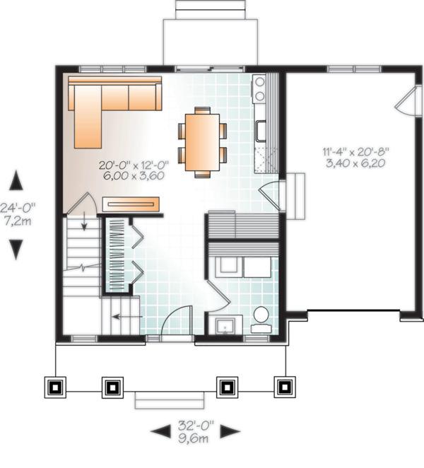 Home Plan - Craftsman Floor Plan - Main Floor Plan #23-2683