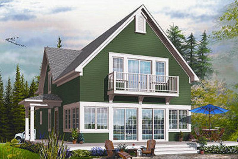 Traditional Exterior - Rear Elevation Plan #23-825 - Houseplans.com