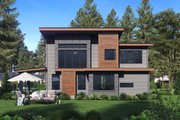 Contemporary Style House Plan - 4 Beds 2.5 Baths 2702 Sq/Ft Plan #1066-81 Exterior - Rear Elevation