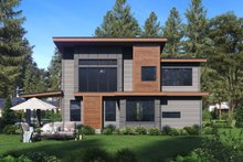 Home Plan - Contemporary Exterior - Rear Elevation Plan #1066-81
