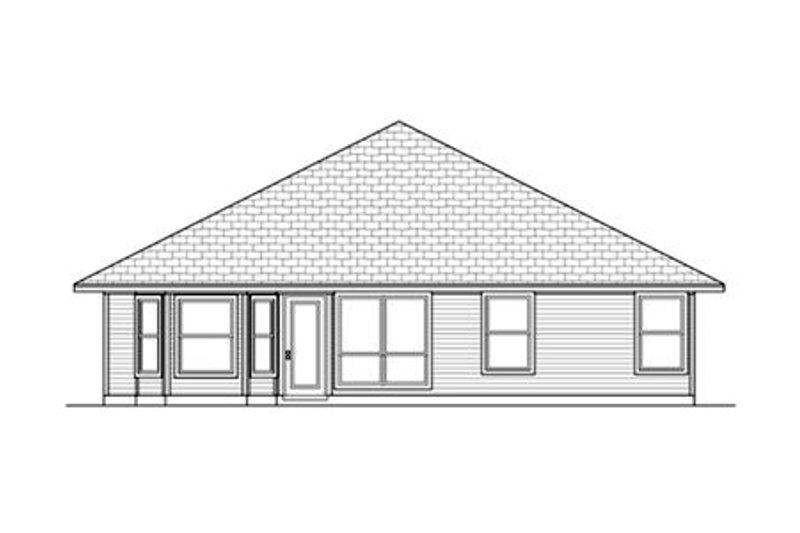 Ranch Exterior - Rear Elevation Plan #84-473 - Houseplans.com