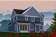 Craftsman Style House Plan - 3 Beds 3 Baths 1778 Sq/Ft Plan #70-1210 Exterior - Rear Elevation