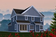 Architectural House Design - Craftsman Exterior - Rear Elevation Plan #70-1210