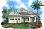 Beach Style House Plan - 3 Beds 3 Baths 2972 Sq/Ft Plan #27-510 Exterior - Front Elevation