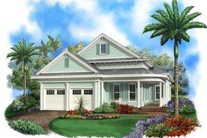 Beach Exterior - Front Elevation Plan #27-510