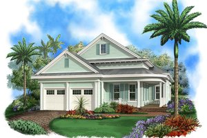 Beach Exterior - Front Elevation Plan #27-510