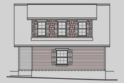 Craftsman Style House Plan - 1 Beds 1 Baths 727 Sq/Ft Plan #487-4 Exterior - Rear Elevation