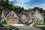 Ranch Style House Plan - 3 Beds 2.5 Baths 2134 Sq/Ft Plan #929-1088 Exterior - Front Elevation