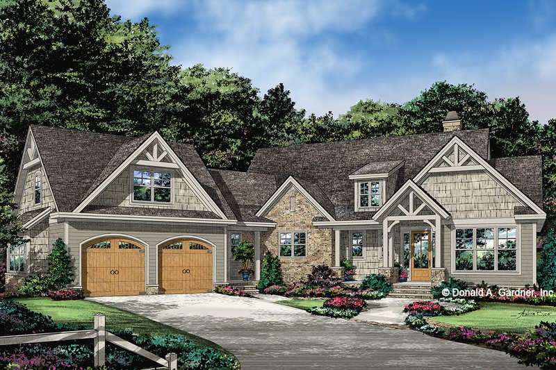 Ranch Exterior - Front Elevation Plan #929-1088