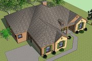 European Style House Plan - 3 Beds 2 Baths 1908 Sq/Ft Plan #459-1 Exterior - Other Elevation