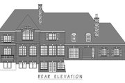 European Style House Plan - 5 Beds 6 Baths 8311 Sq/Ft Plan #458-23 Exterior - Rear Elevation
